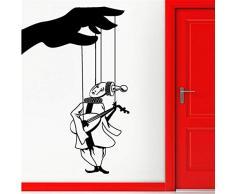 Zxfcczxf Etiqueta De La Pared Calcomanía De Vinilo Teatro De Marionetas Decoración Interesante 44 * 70Cm