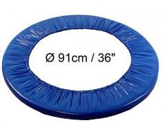 QL1 (R) trampolín borde protector para mini de cama elástica (Diámetro: 91 cm/36) Indoor cama elástica trampolín de jardín Fitness de exterior de trampolín infantil cama elástica con marco acolchado borde acolchado cubierta