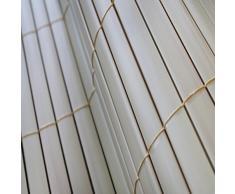 Top multi 10314ga1106-0018 - Esterilla de pvc para protección visual/de viento color bambú natural 0,9 m x 4 m