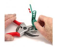 Multi-Sharp 1601 Afilador de Cuchillas para Tijeras de Podar de Yunque, Podadoras, Loppers y Herramientas de Jardín de Borde Recto y Curvado