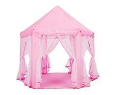 househome Carpa Princesa Carpa Princesa con luz LED de Estrella Carpa Infantil Bolas Bolas de Carpa Carpas Infantiles Jugar Castillo