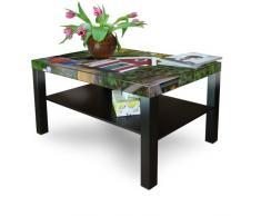 Gran mesa de centro auxiliar con estante con diseño: pajarera