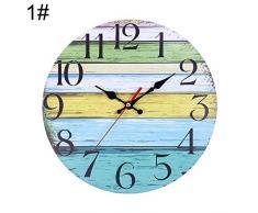 Mysracing Vintage Jardín Reloj de Pared Salón Hogar Decoración Reloj de Pared Barra Decoración Reloj 30Cm