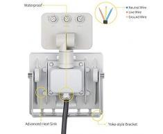 Proyector LED para exterior con detector de movimiento, foco ultra-mince Faro interior y exterior impermeable IP67 para jardín Patio terraza Square fábrica 10W blanco frío