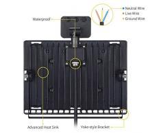 Proyector LED para exterior con detector de movimiento, foco ultra-mince Faro interior y exterior impermeable IP67 para jardín Patio terraza Square fábrica 100W Blanco cálido