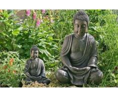 Boltze - Escultura de buda para jardín (70 cm)