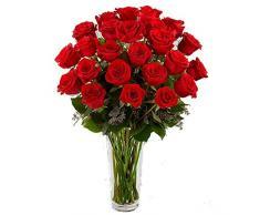 Ramo de 25 rosas rojas naturales. Añade tu dedicatoría durante el proceso de compra.