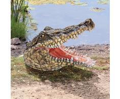 Design Toscano by Blagdon JQ5314 - Figura decorativa (resina), diseño de cocodrilo