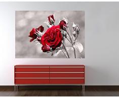 "Bilderdepot24 Autoadhesivo Fotomural ""rosas arbusto"" 180x120 cm - papel pintado - Fototapete - la fabricación made in Germany!"