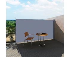 vidaXL Toldo lateral retráctil para el patio, 160 x 300 cm, color gris