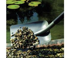Fiskars Pala, Largo: 23,5 cm, Longitud: 132 cm, Mango y cabezal de acero, Negro/Gris, 1001579