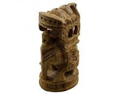 Mano tallada de madera Royal Indian elefante estatua escultura casa estatuilla Animal decorativo