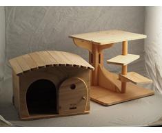 Novedad Blitzen, ROBINSON XL, bellísima caseta y el tronco del árbol para gatos, cama de gato, gato casa, rascador, 100% MADE IN ITALY
