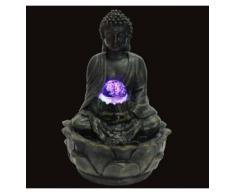 Fuente para interior con Buda (iluminación led multicolor, 20 cm)
