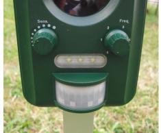 Batería ultrasónica Selections. Repelente por ultrasonidos para gatos, zorros, perros y roedores (funciona con pilas)