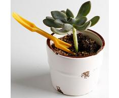 Conjunto De 2 Plasticos Cavan Herramientas Plantulas Perforadora Para Herramientas De Jardin Amarillo
