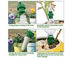 HIMM Agujero para Plantas, Cerámica de Vacaciones, autoriego, Sistema de riego automático para Uso en Interiores y Exteriores, 8PCS
