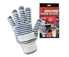 GreatIdeas - Juego de 2 guantes para el horno y superficies calientes (hasta 280 ºC)