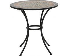 Siena garden 380817 - Prato mesa redonda, la óptica de hierro con mosaico, diámetro 70 cm, multicolor