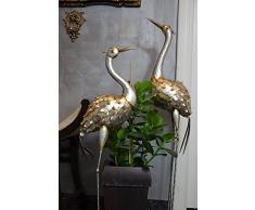 Jardín Escultura Decoración Estatua de Metal Decoración de pájaro Heron jardín terraza