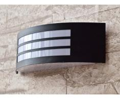 Moderna Lámpara de Pared / Iluminación Exterior IP44 / Acero Inoxidable / de Color Negro Apagado 8409n