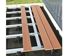 "Eurotec ""Eco XL"" Pedestal ajustable (de 13 hasta 19,8 cm) para suelo de terraza, Paquete de 15"