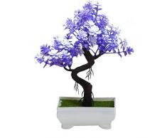 YUYDYU Plantas Artificiales de árboles de Fortuna Plantas de plástico en macetas Planta simulada Bonsai para balcón Casa Oficina Restaurante Mesa Centros de Mesa Decoración de alféizar