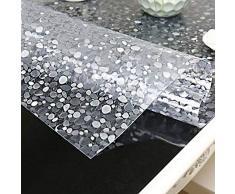 Mantel de plástico PVC de 1,5 mm de grosor, impermeable y resistente al aceite, Piedra de adoquín., 60 x 80 cm
