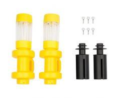 Ultrasport Luces Solares LED de Exterior para Cama Elástica, Juego de 2 Lámparas de Jardín para Trampolín con Colores Cambiantes, Amarillo