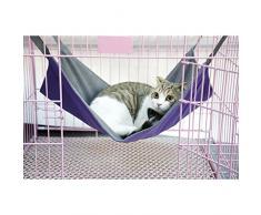 Hamaca Cuna Colgar Cama Jaula Mantas Comodo Para Gato Gatito Kitty Animal Morado L