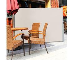 Songmics toldo terraza Toldo lateral solar, retráctil Sombrilla exterior 180*300cm GSA180E