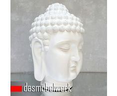 Dasmöbelwerk de Buda figura decorativa de gran Figura de Feng Shui Jardín tailandés de Buda escultura decorativa Lotus Asia de Buda Estatua Figura decorativa a las heladas 52 cm s081 Color Blanco