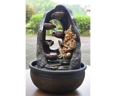Fuente de agua interior Feng Shui Ganesh 40 cm con led multicolor