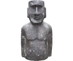 Moai , Isla De Pascua figura, Jardín Escultura, Deco Jardín Figura, 95cm