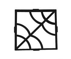 XTXWEN Encofrado de concreto, Molde de fundición 40X40X4 cm - para concreto, pavimento de Piedra Verde, guijarros, adoquines, Paneles de terraza, Tablas de escalones y moldes para losas de jardín.