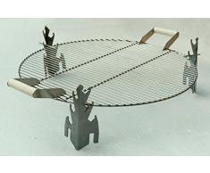 Acero inoxidable para chimenea de gas parrilla para 79 cm de diámetro con orificio en forma de Y diseño contemporáneo piscinas Fire YANARTAS