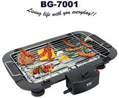 Orbit Barbacoa electrica BBQ Grill Parrilla Plancha de Asar para Cocina Camping BG-7001