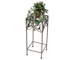 Taburete 12036 taburete 60 cm mesa auxiliar fabricado en metálico de flores soporte mesa