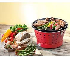Food & Fun Grillerette Classic - Barbacoa portátil sin humo, parrilla 37 cm