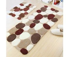 DW&HX Alfombra espesada simple del adoquín de la felpa Dormitorios felpudos Alfombras de cabecera Bar cocina piso alfombra Alfombras de absorción de agua de tocador-A 70x140cm(28x55inch)