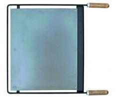 IMEX EL ZORRO Plancha para Barbacoa, INOX, 68 x 41 cm, Gris, 71619