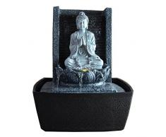 Zen'Light SCFRB1 - Fuente de interior, 20 x 15 x 26 cm, color plateado
