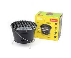 Ferraboli Grill/Barbacoa Grill/mesa grill/Barbacoa de carbón Camper Barbacoa Negro