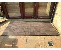 Click-deck - Baldosas de composite para patio, balcón, terraza, jacuzzi, juego de 6 unidades