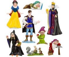 EASTVAPS Juguete 8 Piezas Figura Blancanieves Siete príncipes Enanos Bruja decoración Retrato Familiar Juguete Hecho a Mano