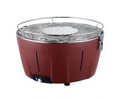 Mayer Barbecue BRENNA Barbacoa de mesa a carbón sin humo MTG-201, color rojo