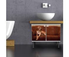 Mueble para baño con diseño de 60 x 55 x 35: caza perro en sofá