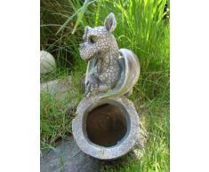 Jardín Figura con dragón bebé - Maceta decorativa