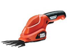 Black & Decker GSL200 tijera de césped inalámbrica - Tijera de podar (Rojo, Litio)