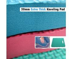 Finch - Nuevo jumbo gardners grande arrodillado, ideal para piso limpieza hogar empleos paleta suave cojín asiento guantes herramientas de jardinería trabajo kneelo impermeable fuerte reclinatorios (césped verde)